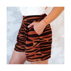Short Tigre Marrón Aire retro
