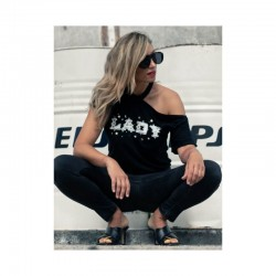 Camiseta Lady Aire Retro Negro
