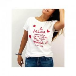 Camiseta La belleza comienza... La Vida es Cool