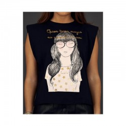 Camiseta negra Anabel Lee Magia