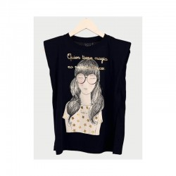 Camiseta negra Magia Anabel Lee